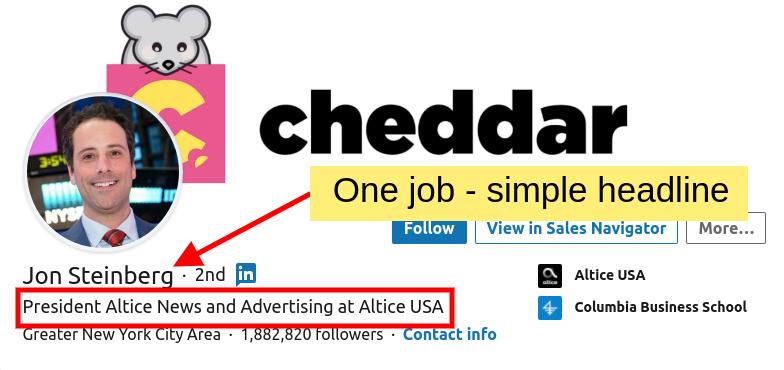 LinkedIn Headline